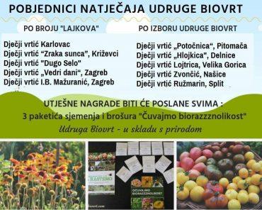"""Dječji vrtić """"Potočnica"""" među pobjednicima natječaja udruge Biovrt"""